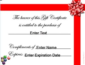christmas gift certificates certificate creator create and print