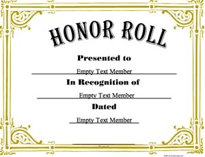 Honor roll 3 certificate creator create and print awards and honor roll certificate yadclub Gallery