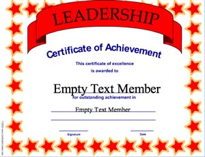 Leadership achievement certificate creator create and print leadership achievement yadclub Image collections