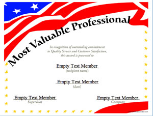 most valuable professional 4 certificate creator create and